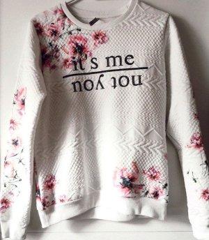 Sweater Gr 40 mit Blumenmuster von NKD