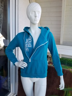 Blind Date Hooded Sweatshirt turquoise