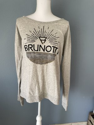 Brunotti Kraagloze sweater grijs-zwart