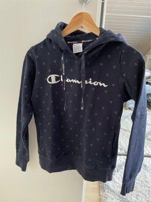Champion Maglione con cappuccio bianco-blu scuro