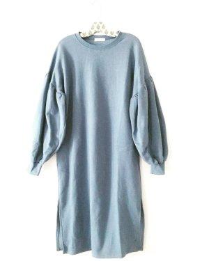 sweater • kleid • oversized • vintage • puffärmel • blau
