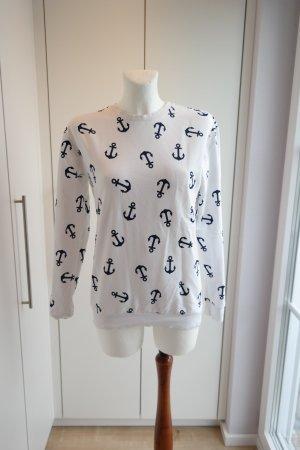 Sweater mit Ankermotiv Größe S