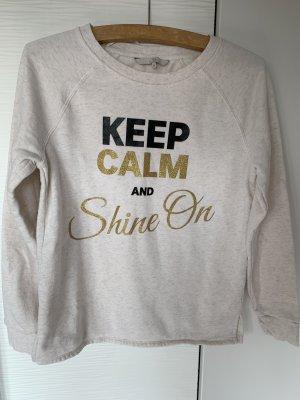 Sweater mit Aufschrift Creme/beige