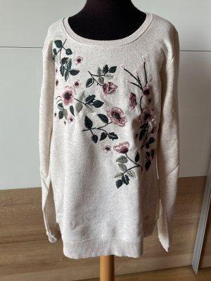 Sweater mit Blumenstickereien