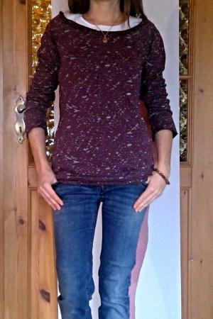SusyMix Sweatshirt bruin-paars-zilver Katoen