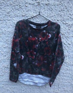 Sweater mit Hemdeinsatz