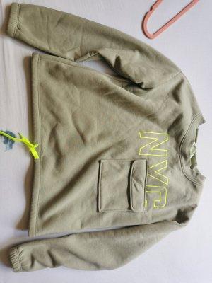 Sweater mit Neonaufschrift
