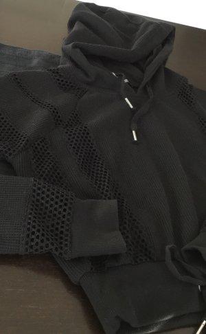 YES OR NO Sweat à capuche noir