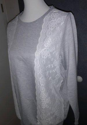 Sweater mit Spitze Gr. 40