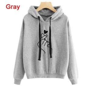 Top à capuche gris