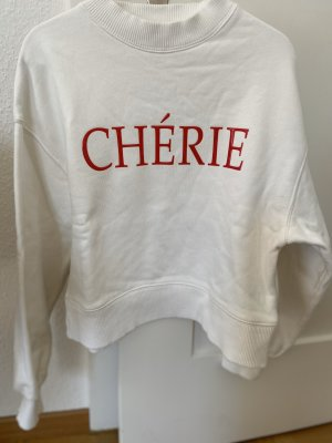 H&M Oversized Sweater white-red