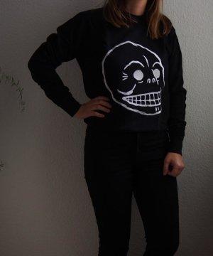 Cheap Monday Sweter z okrągłym dekoltem czarny-biały Bawełna
