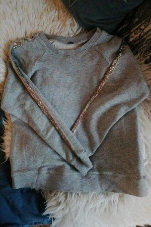 Sweater Silber grau