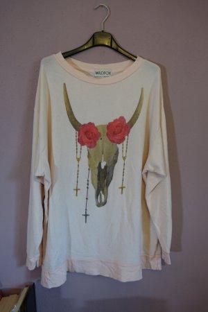 Sweater, Sweatshirt, Pullover, Pulli, Wildfox mit Bullenprint, rosa, Gr. S