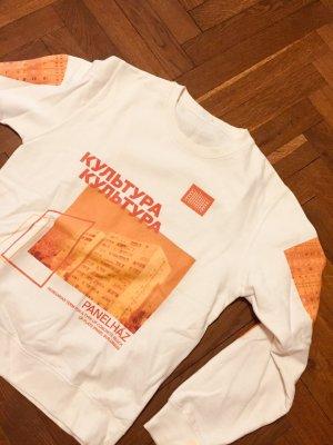 Sweater Vintage Design Culture weiss bunt Gr. S Nike Puma Adidas