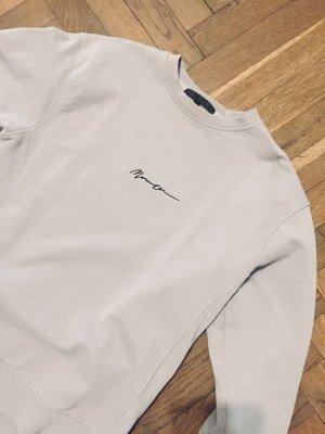 alternative vintage soft Bluza dresowa srebrny Tkanina z mieszanych włókien