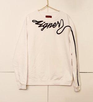 Aigner Sweatshirt wit-zwart Katoen