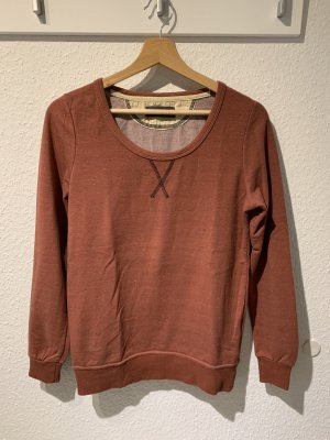 Nümph Crewneck Sweater cognac-coloured