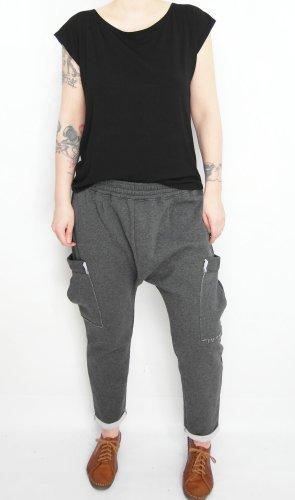 Pantalone alla turca grigio-grigio scuro Cotone
