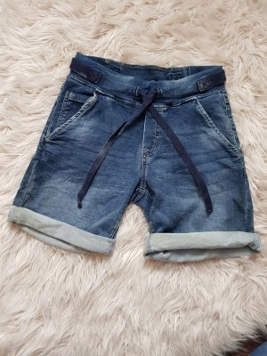 sweathose in jeans look gr. XS bermuda short blau