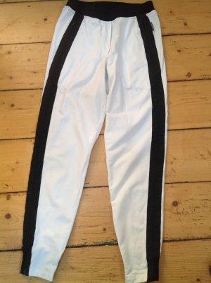 Marc Cain Pantalon de jogging blanc-noir coton