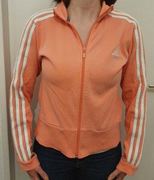 Adidas Kurtka dresowa biały-różowy Bawełna