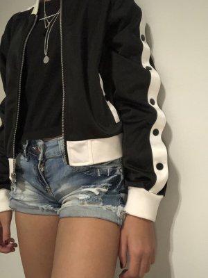 Urban Classics Shirt Jacket black-white