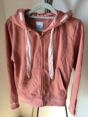 Only Hoody rose-gold-coloured mixture fibre