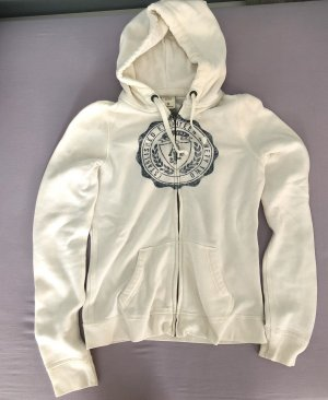 Sweatjacke Abercrombie & Fitch off-white