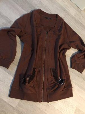 Apart Chaqueta de tela de sudadera marrón
