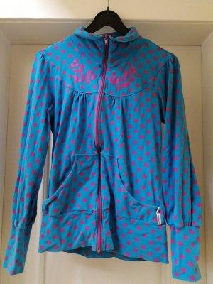 Blutgeschwister Shirt Jacket raspberry-red-cornflower blue
