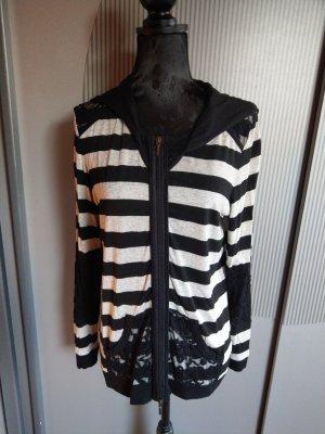 Cosima Sweat Jacket white-black
