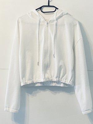 SheIn Sweat Jacket white