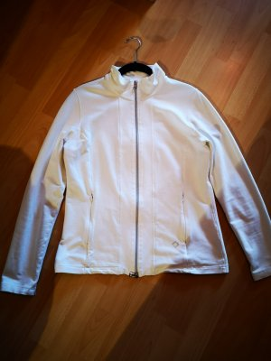 Veste sweat blanc cassé-beige clair