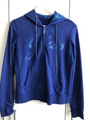 Gas Veste sweat bleu-bleu foncé