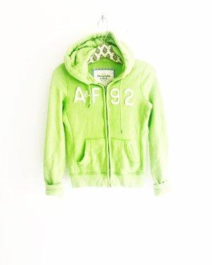 sweatjacke • hoodie • abercrombie & fitch • apfelgruen