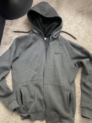 Nike Kurtka z kapturem szary-czarny