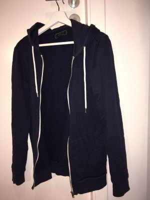 Hoody dark blue-white