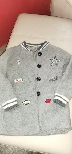 Wełniany sweter srebrny Tkanina z mieszanych włókien