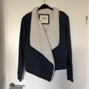 Abercrombie & Fitch Chaqueta de tela de sudadera blanco-gris pizarra