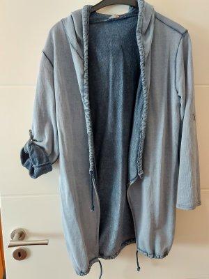 Made in Italy Kurtka dresowa szary niebieski-jasnoniebieski