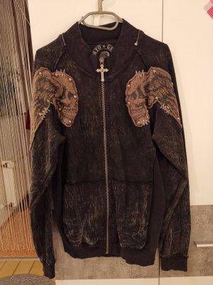 Roberto Geissini Chaqueta de tela de sudadera marrón