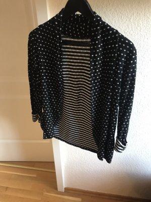 Chaqueta estilo camisa negro-blanco