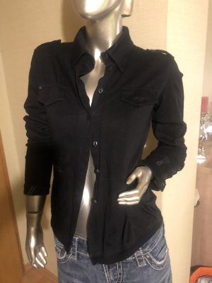 Dek'her Chaqueta estilo camisa negro