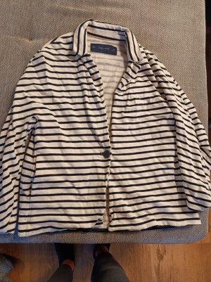 Zara Basic Veste sweat blanc-noir