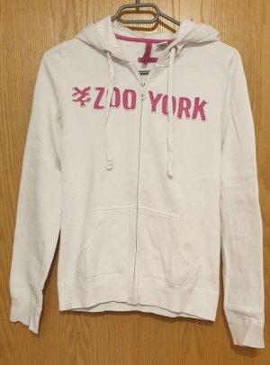 Zoo york Pull à capuche blanc-rose