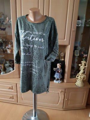 Made in Italy Vestido de tela de sudadera caqui