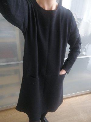 Zara Vestido de tela de sudadera negro