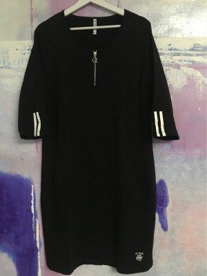 ZOSO Vestido de tela de sudadera negro