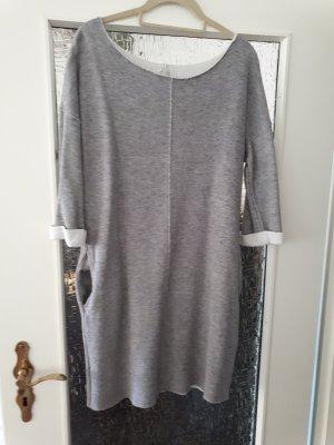 Amisu Sweat Dress grey-light grey mixture fibre